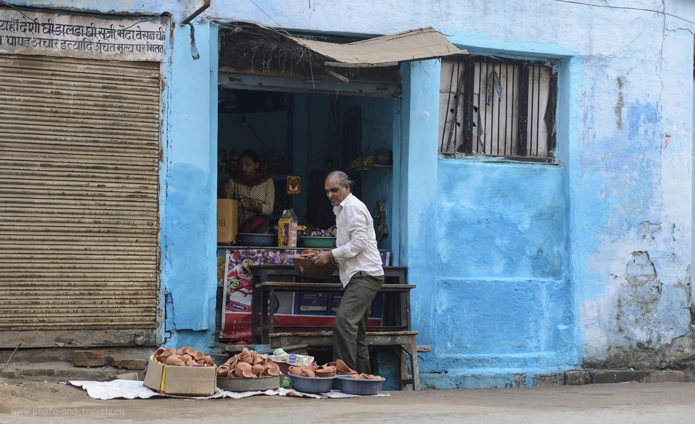 Фотография 13. Не знаю, для чего используют эти горшочки, но их много где продавали в Варанаси. Отчет о поездке в Индию самостоятельно. 1/500, 2.8, 250, 70.