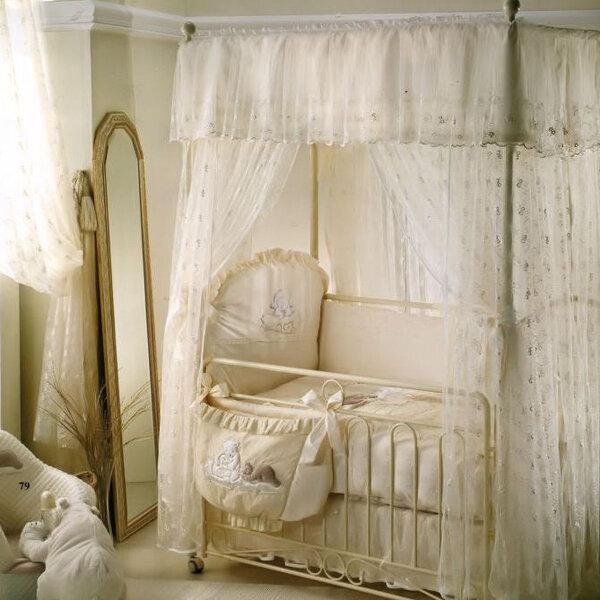 кроватки для новорожденных с балдахином