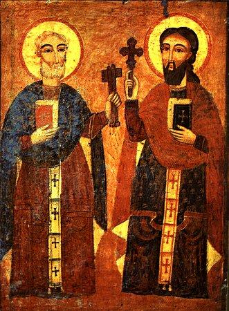 Св. апостолы Пётр и Павел  Коптская икона