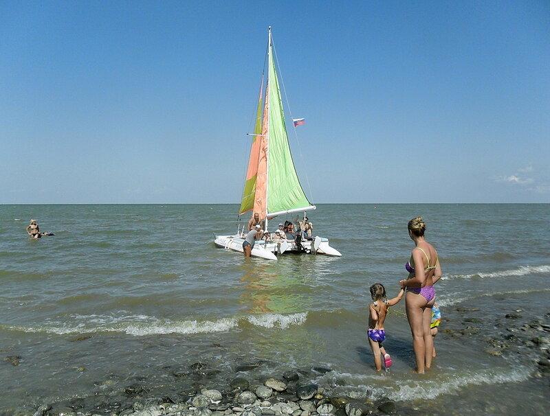 Парус в море, август 2012