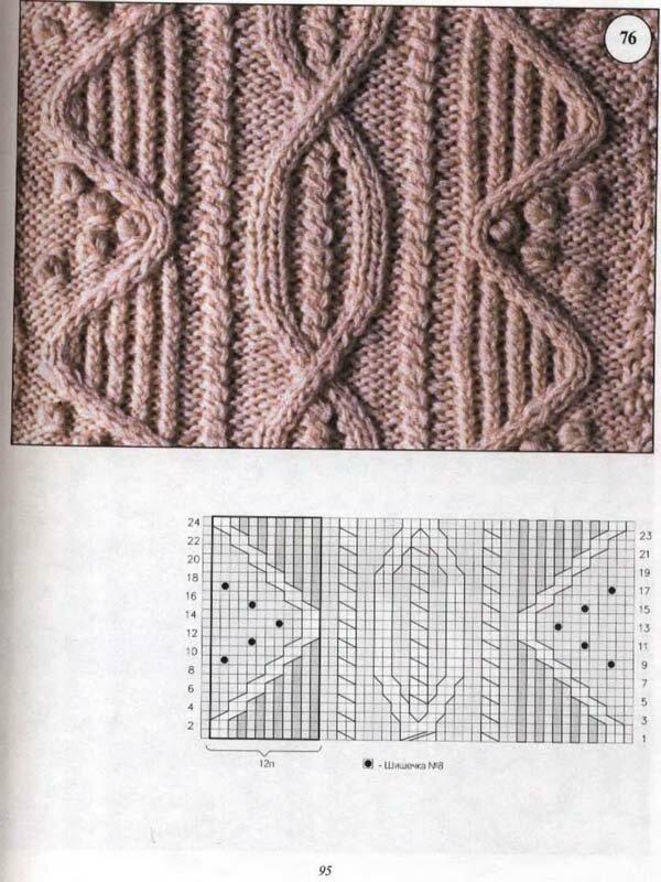 Вязание араны косы 60