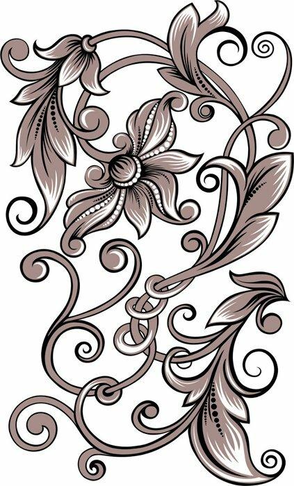 Монохромные картинки цветов 3