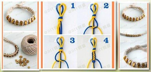Как сделать простые и легкие браслеты из