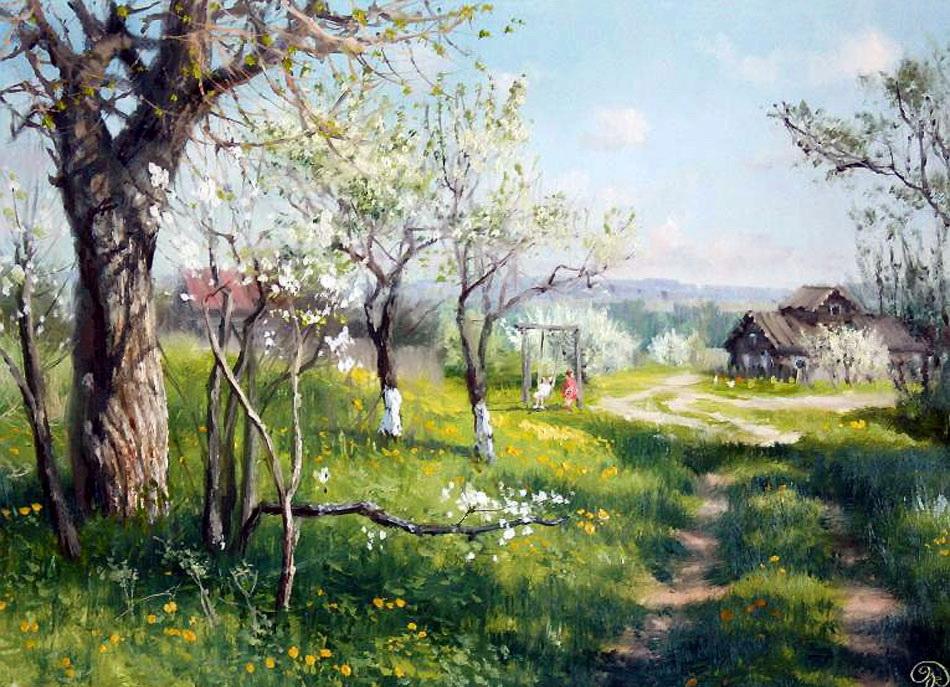 картинки с изображением весны в деревне которой