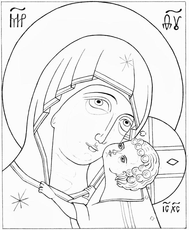 Как нарисовать божью мать поэтапно