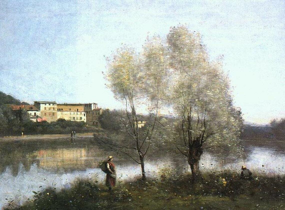 Ville d'Avray, c. 1867, oil on canvas,Jean-Baptiste-Camille Corot (1796–1875); National Gallery