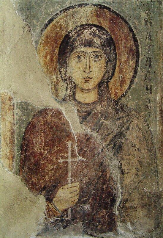 дошло до нашего времени с утратами и потертостями красочного слоя, как и многие другие.  Софии Киевской.