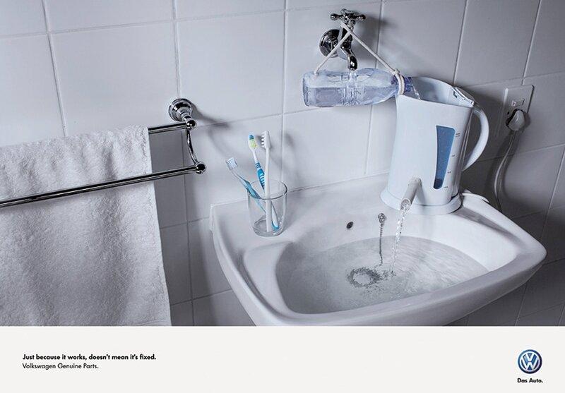 Русская смекалка в европейской рекламе Volkswagen