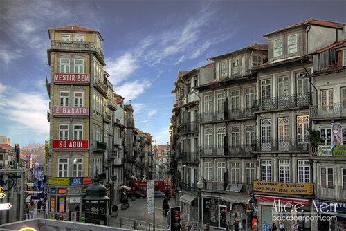 old district in Porto city center