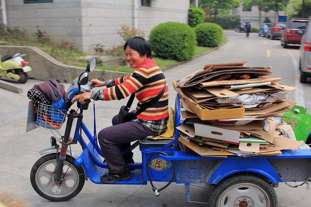 Сборщики вторсырья в Китае
