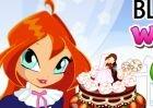 Блум винкс и готовит свадебный торт игра