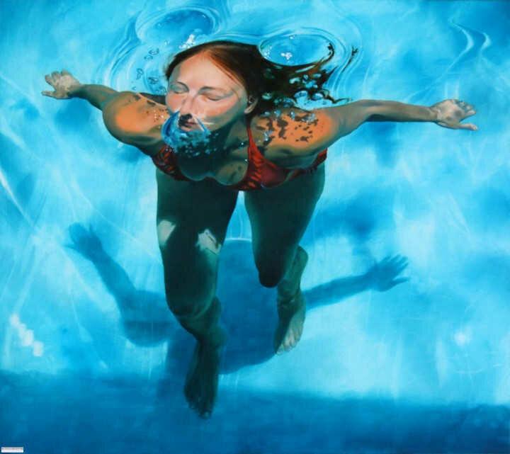 Sarah Harvey. Девушка под водой 11