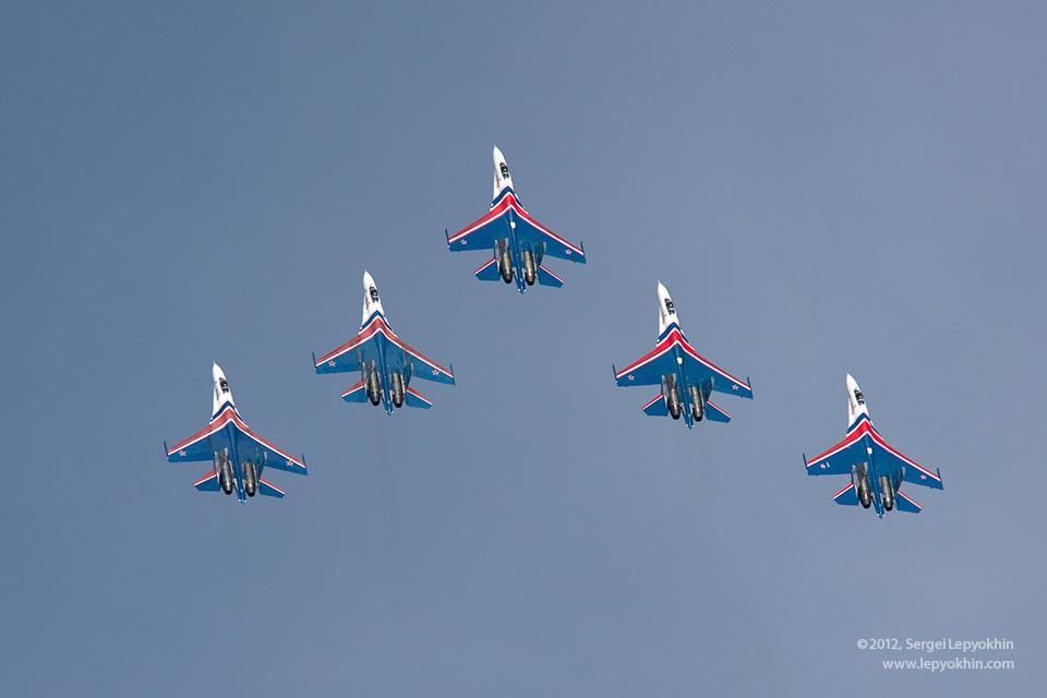 Русские витязи в Волгограде. Авиашоу над набережной Волги. 100 лет ВВС России.