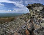 Останцы на вершине Первой сопки хреба Уреньга