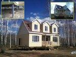 2 Каркасный дом на винтовых сваях. ДНП Лесной ручей.JPG
