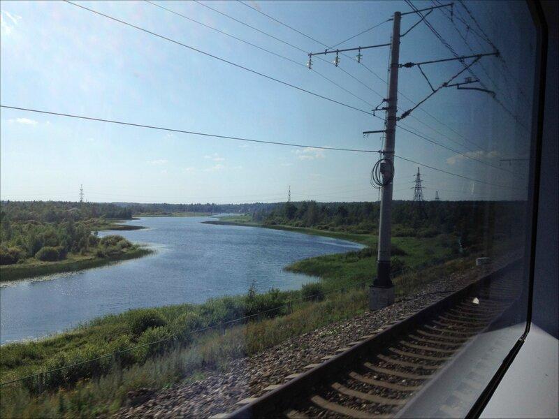 Сапсан. Где-то в Новгородской области