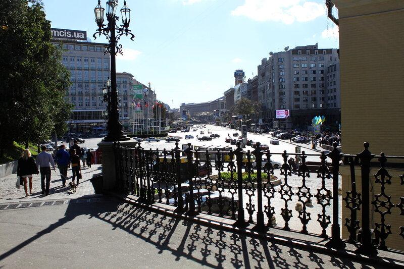 Вид от Филармонии на Европейскую площадь