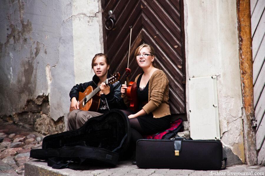 Таллин уличные музыканты