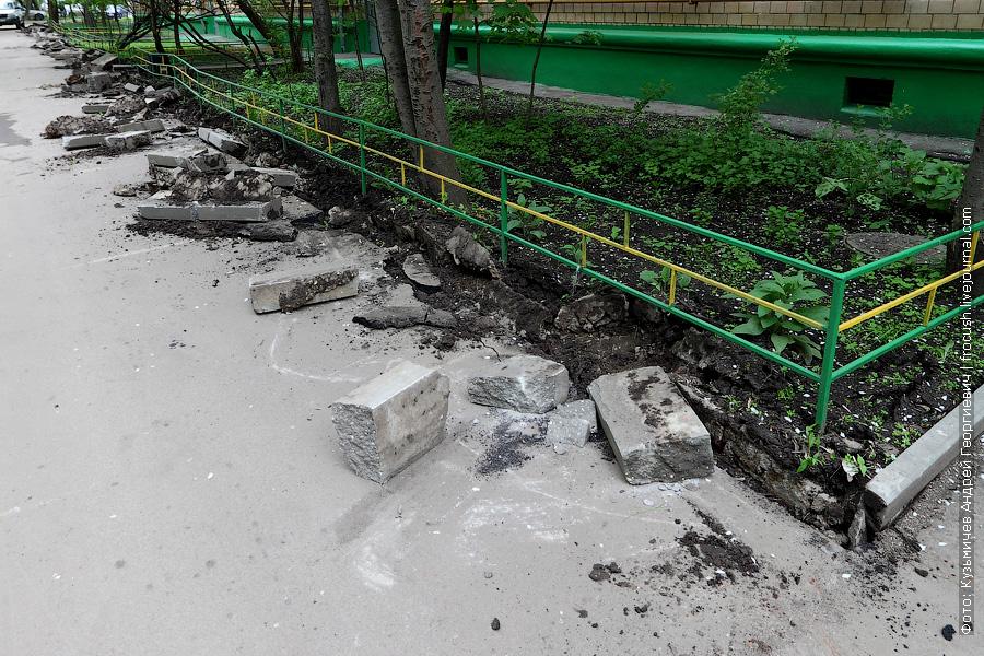 демонтаж бордюрного камня