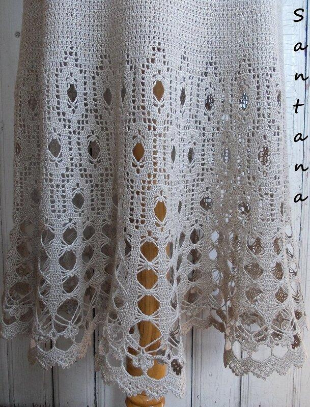 Платье в пол из льна (фрагмент 1)