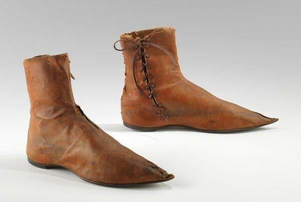 Английские ботинки, примерно 1790-1820 годы..jpg
