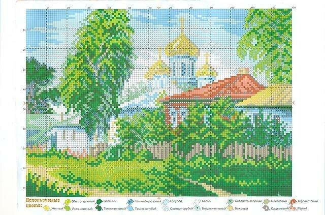 В этом разделе Вы найдете великолепные схемы для вышивания крестом изображающие различные пейзажи.