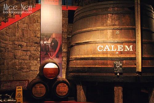barrels with porto wine, calem