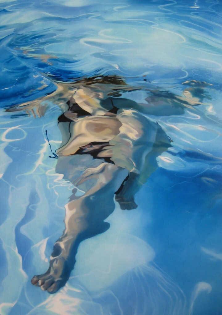 Sarah Harvey. Девушка под водой 7