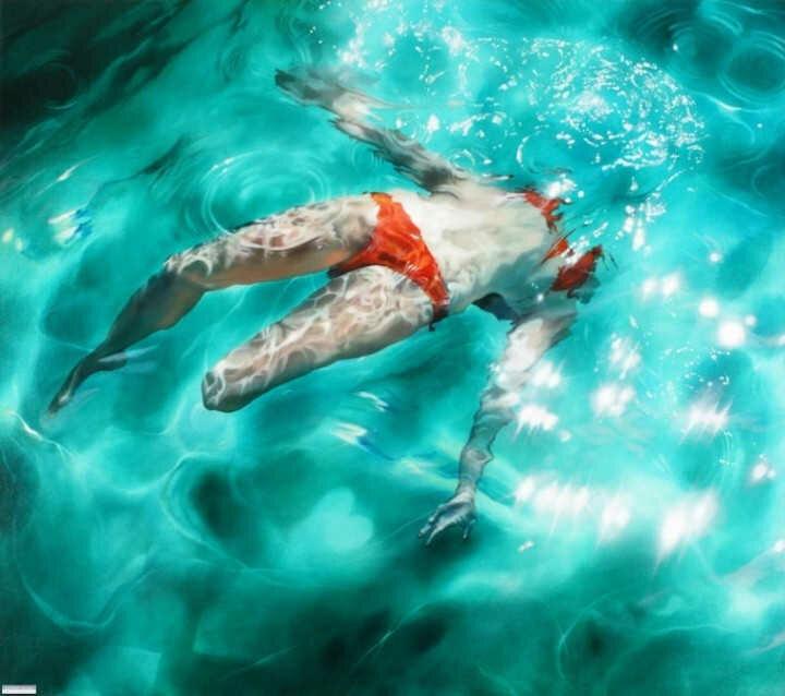 Sarah Harvey. Девушка под водой 9