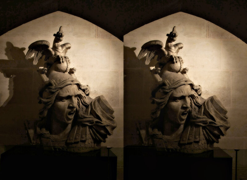 Париж Скульптура в музее Триумфальной арки на Елисейских Полях Стереопара