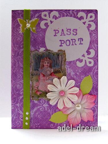 """Обложка на паспорт """"Сиреневый винтаж"""""""