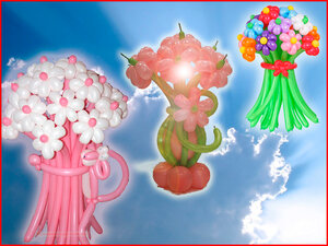 Букеты из шариков ко Дню разноцветных букетов