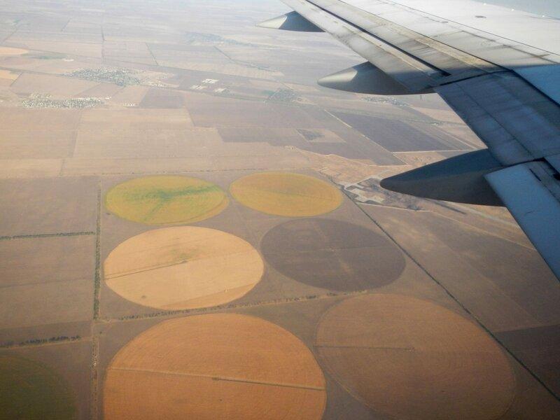 круги орошаемых полей