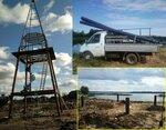 Фундамент на винтовых сваях для маяка. Яхт-клуб Конаково Ривер Клаб, Тверская область.JPG