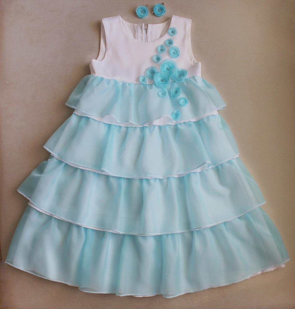 платье для девочки с валанами