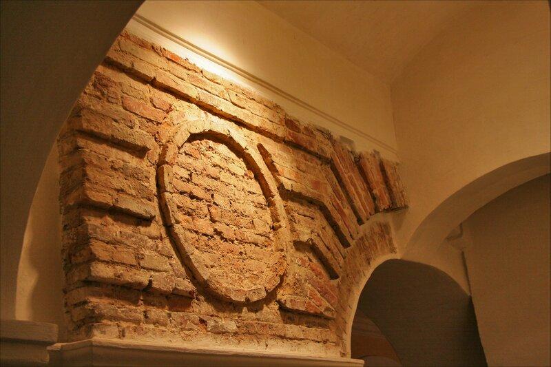 Зимний дворец Петра I, Фрагмент кирпичной кладки
