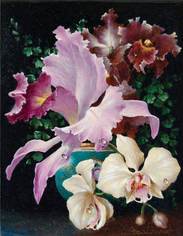 Орхидея - цветок любви, волнующая страсть…Lev Chistovsky. Акварель НЮ