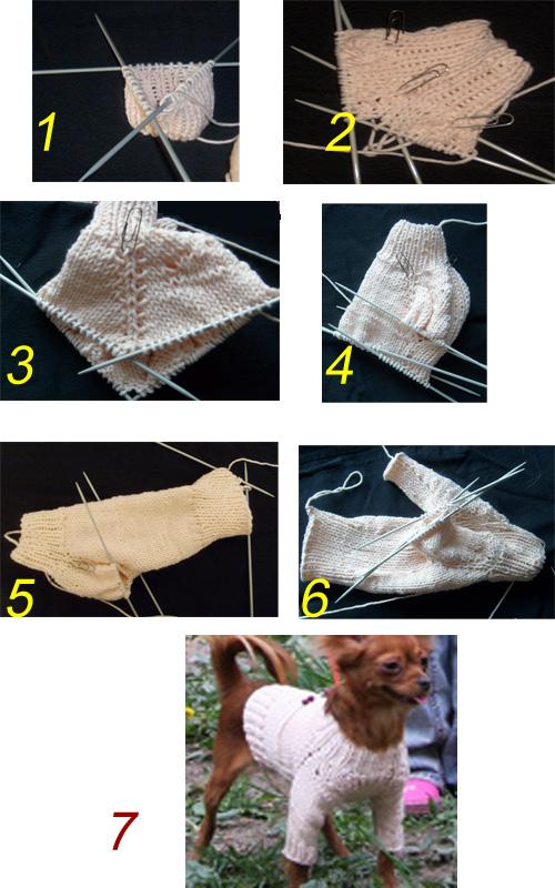 Связать свитер йорку своими руками
