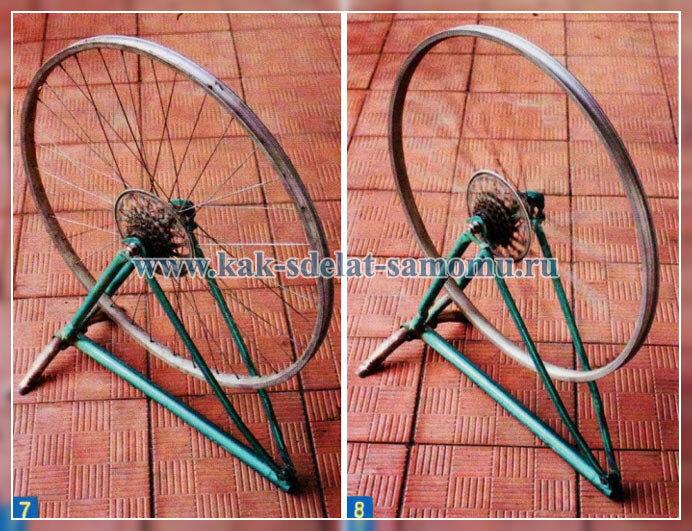 как исправить велосипедное колесо своими руками