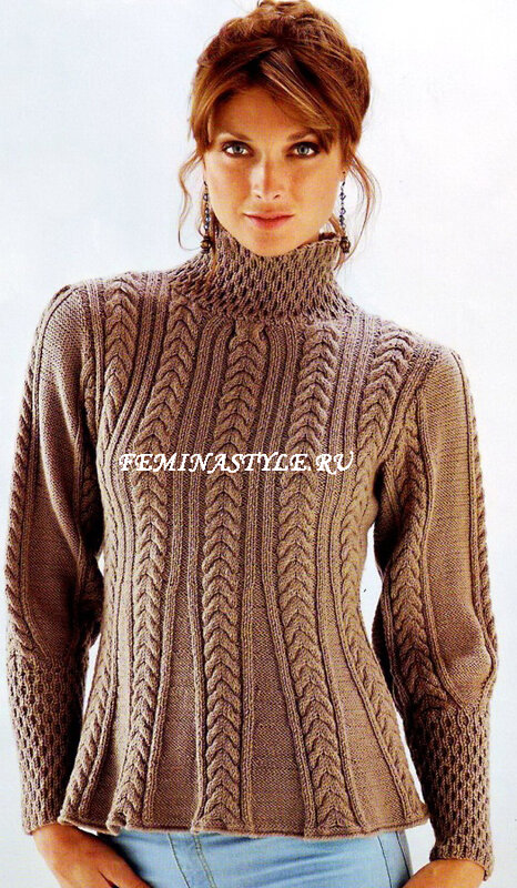 Мужской свитер схема на 52 размер