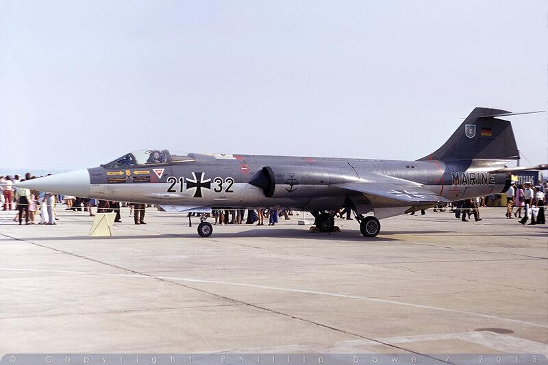 2132 - F-104G Starfighter -German Navy / MFG2 - RNAS Yeovilton - 8-September-73