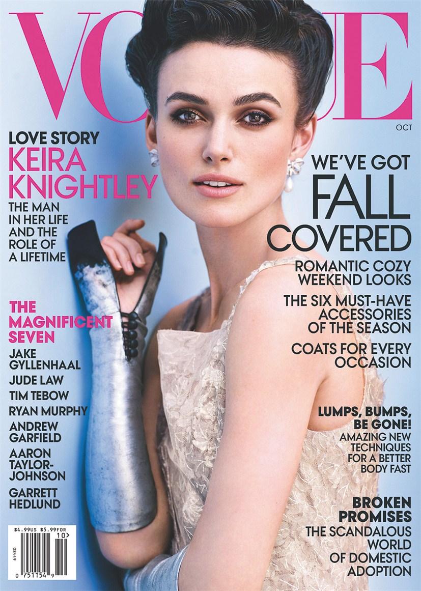 Keira Knightley / Кира Найтли в образе Анны Карениной на обложке журнала Vogue US, октябрь 2012 / фотограф Mario Testino
