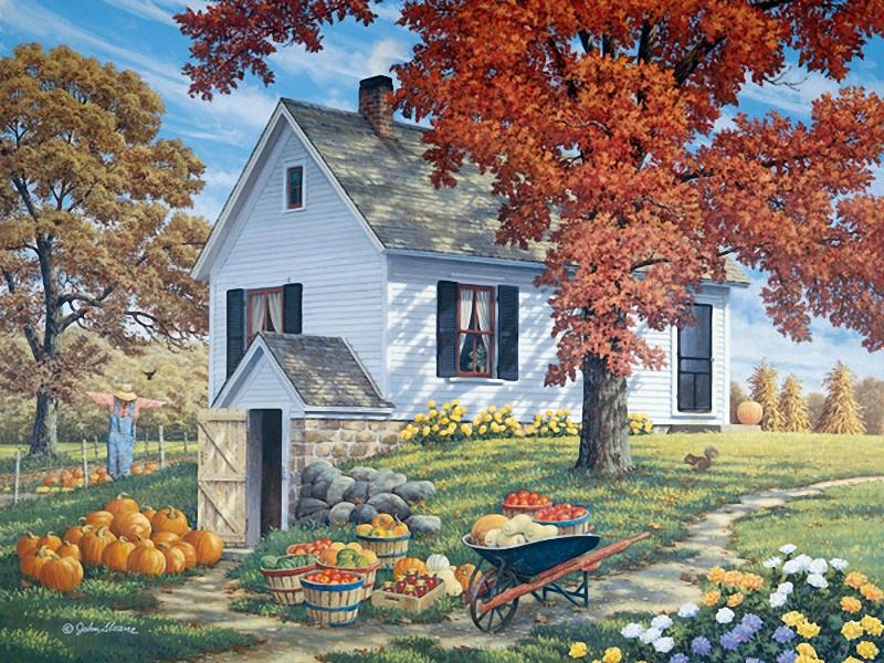 """Оригинал - Схема вышивки  """"Осенний пейзаж """" - Схемы автора  """"palena29 """" - Вышивка крестом."""