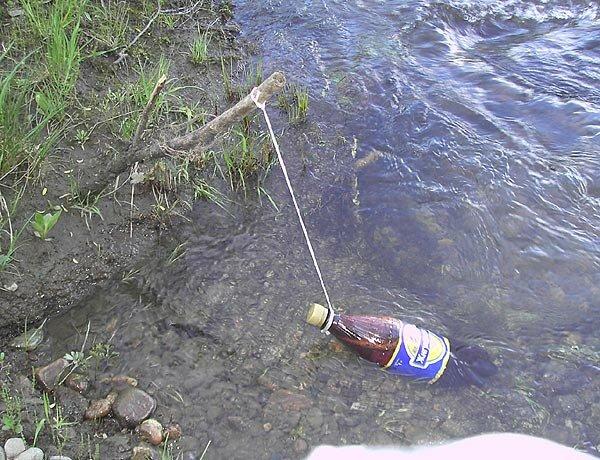 Как охладить бутылку на природе, когда рядом нет холодильника?