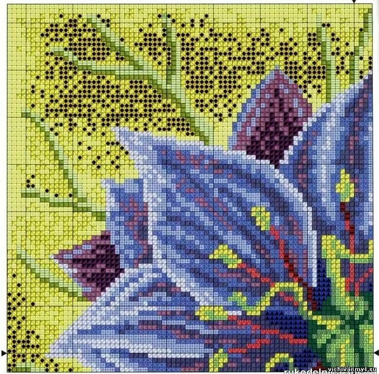 Цветовые коды для схемы по вышивке - Нигелла.