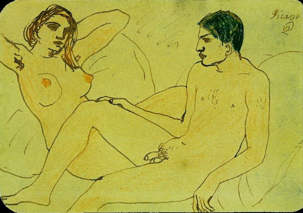 Пикассо, Автопортрет, 1902 г, НЮ