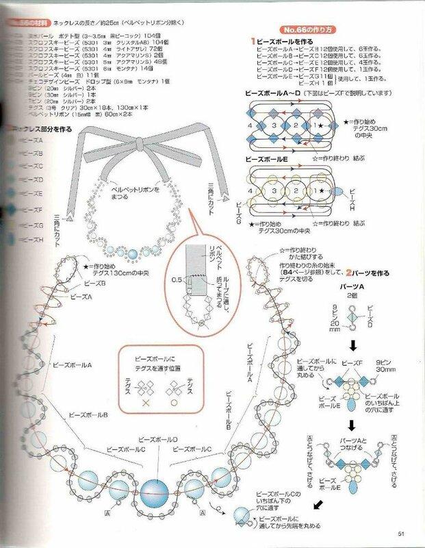 бисероплетение колье со схемами - Всемирная схемотехника.