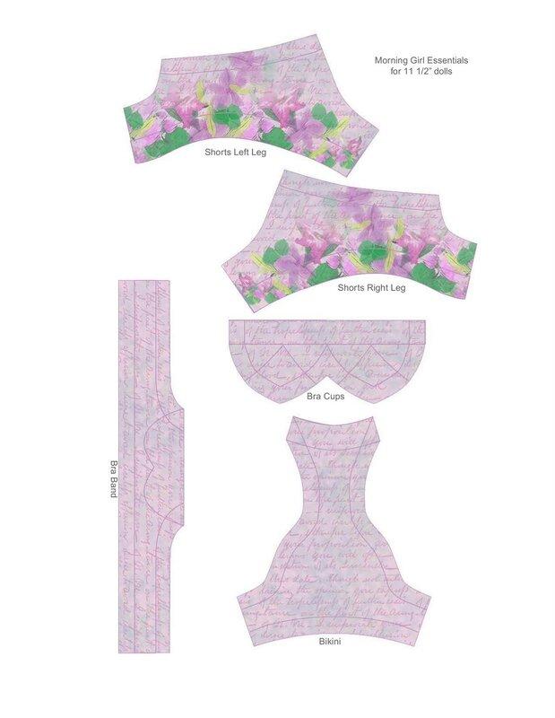 Выкройки одежды для кукол мокси 3