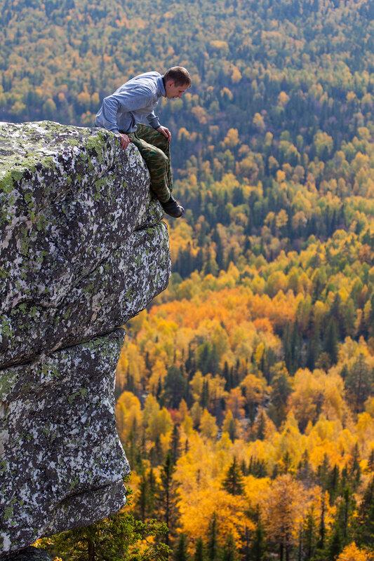 Высоко сижу - только вниз гляжу, боюсь шевельнуться - могу .. .. .. .. .. .. .. .. .. ..!