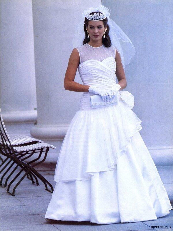 Свадебные платья в бурда моден